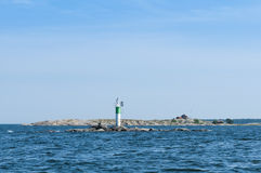 Lighthouse Gavlehasten Aaland sea Sweden Royalty Free Stock Images