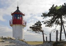 Lighthouse Gellen in Hiddensee Royalty Free Stock Photo