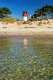 Lighthouse Gellen on lonely beach Royalty Free Stock Photography