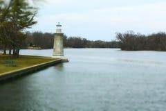 Lighthouse Geneva, Illinois. A lighthouse on the Fox River in Geneva, Illinois Stock Images