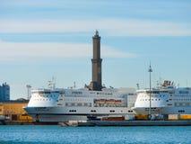 Lighthouse of Genoa Royalty Free Stock Photos