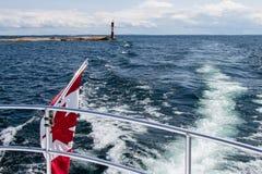 Lighthouse on Georgian Bay, Lake Huron stock image