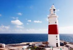 Lighthouse of Gibraltar. Blue Sky and Lighthouse of Gibraltar Stock Photos