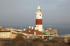 Lighthouse in Gibraltar Royalty Free Stock Photography