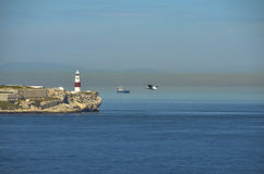 LIGHTHOUSE IN GIBRALTAR stock images