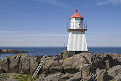 Lighthouse on  Gimsoya Royalty Free Stock Photo