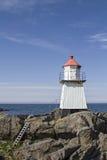 Lighthouse on  Gimsoya Stock Image