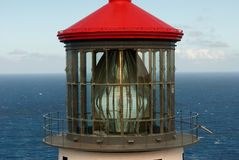 Lighthouse glass. Detailed view of Makapu'u Lighthouse on Oahu, Hawaii Royalty Free Stock Images