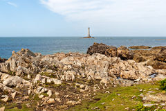 Lighthouse of Goury at Cap de la Hague , Normandy Royalty Free Stock Photos