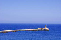 Lighthouse in Grand Harbour. (Valletta, Malta Stock Photography