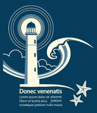 Lighthouse graphic poster for text Royalty Free Stock Photography