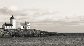 Lighthouse in Grayscale Poster Royalty Free Stock Image