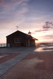 Lighthouse in Great Britain. Lighthouse at sunset on the Morecambe Bay Stock Photos