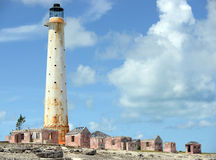 The Lighthouse at Great Isaac in the Bahamas Royalty Free Stock Photos