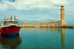 Lighthouse. Greece. Crete. Rethymnon. Royalty Free Stock Photography