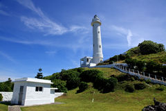 Lighthouse on the Green Island,Taiwan Stock Photo