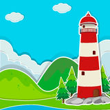 Lighthouse on the ground Royalty Free Stock Photo