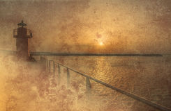 Lighthouse grunge background Royalty Free Stock Images