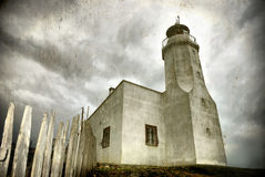 Lighthouse (grunge image) Royalty Free Stock Photos