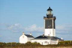 Lighthouse and guardian house Stock Photos