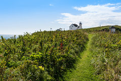 Lighthouse and guardian house Royalty Free Stock Image