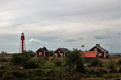 Lighthouse guardian`s residence. The accommodation is today a hostel Stock Photo
