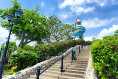 Lighthouse in Guayaquil. Lighthouse on Santa Ana Hill in Guayaquil, Ecuador Royalty Free Stock Photos