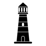 Lighthouse guide sea pictogram Stock Photography