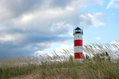 Lighthouse. On the Gulf of Finland and at the mouth of the River Narva in Estonia Stock Image