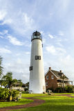 Lighthouse on the Gulf of Mexico. In Eastpoint Royalty Free Stock Photos