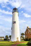 Lighthouse on the Gulf of Mexico. In Eastpoint Royalty Free Stock Photo