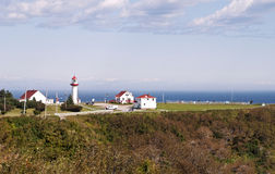 Lighthouse in the Gulf of St. Lawrence Stock Image