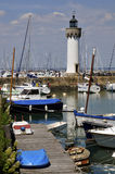 Lighthouse the Haliguen port in France Stock Photo