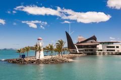 Lighthouse Hamilton Island, Australia. Lighthouse and marina of Hamilton Island, Australia Royalty Free Stock Image