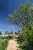 Lighthouse Hammeren Fyr on Bornholm Royalty Free Stock Image