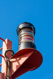 Lighthouse in the harbor of Hamburg Royalty Free Stock Photo