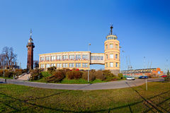 Lighthouse and harbor master's office Royalty Free Stock Photography