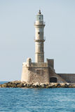 Lighthouse at the harbour of Chania, Crete, Greece Royalty Free Stock Photography