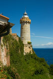The lighthouse at the harbour of Portoferraio, Elba Royalty Free Stock Images