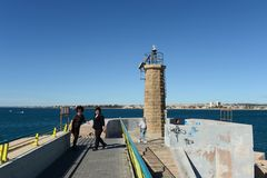 Lighthouse in the harbour Torrevieja Royalty Free Stock Images