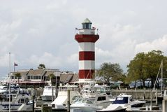 Lighthouse at Harbour Town. Hilton head, SC Stock Photography
