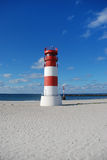 Lighthouse Helgoland. The lighthouse on the dune of Helgoland Royalty Free Stock Images