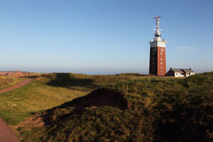 Lighthouse on Heligoland Royalty Free Stock Images