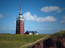 Lighthouse of Heligoland. The lighthouse of Heligoland was originally a flak tower (built in WW2). It has the highest luminosity of all German lighthouses Royalty Free Stock Image