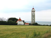 Lighthouse in Helnaes Denmark Stock Images