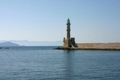 The lighthouse of Heraklion on the island Crete Stock Images