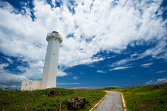 The Lighthouse in HIGASHI HENNA Cape, Okinawa Prefecture/Japan Stock Images