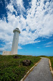 The Lighthouse in HIGASHI HENNA Cape, Okinawa Prefecture/Japan Stock Photos