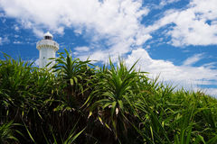 The Lighthouse in HIGASHI HENNA Cape, Okinawa Prefecture/Japan Royalty Free Stock Photo