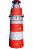 Lighthouse. High resolution 3D rendering of an lighthouse Stock Images